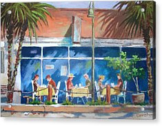 Acrylic Print featuring the painting Florida Dining Out by Tony Caviston