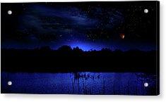 Florida Everglades Lunar Eclipse Acrylic Print
