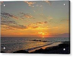 Florida Gulf Coast Sunset  - Casper937 Acrylic Print by Frank J Benz