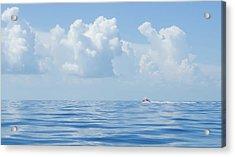 Florida Keys Clouds And Ocean Acrylic Print