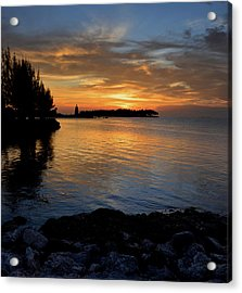 Acrylic Print featuring the photograph Florida Keys Sunset by Stephen  Vecchiotti