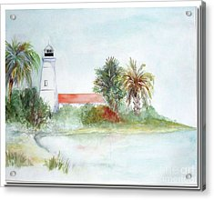 Acrylic Print featuring the painting Florida Lighthouse by Sibby S