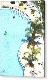 Florida Pool 33 Acrylic Print by Glenn Gemmell