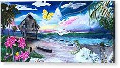 Florida Room Acrylic Print by Dawn Harrell