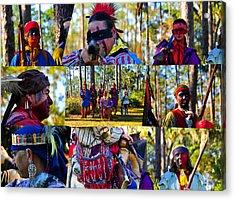Acrylic Print featuring the photograph Florida Seminole Indian Warriors Circa 1800s by David Lee Thompson