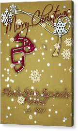 Florida State Seminoles Christmas Card 2 Acrylic Print by Joe Hamilton