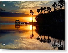 Florida Sunrise Acrylic Print by Rick Mann