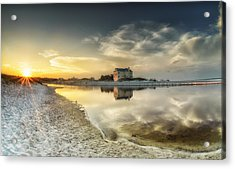 Florida Sunrise - Stillness Acrylic Print by Cathy Neth