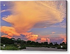 Florida Sunset On The Last Day Of Summer-vs2  -  Lastsumsum994 Acrylic Print by Frank J Benz