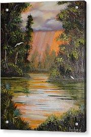 Florida Thunderstorm Acrylic Print by Susan Kubes