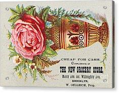 Florist Trade Card, C1890 Acrylic Print by Granger