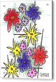Florists Dozen Acrylic Print