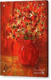 Acrylic Print featuring the painting Florists Red by P J Lewis