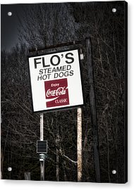 Flo's Hot Dogs - Cape Neddick - Maine Acrylic Print by Steven Ralser