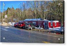 Flo's Steamed Hot Dogs - Cape Neddick - Maine  Acrylic Print by Steven Ralser