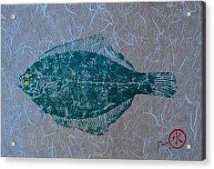 Flounder - Winter Flounder - Black Back Acrylic Print