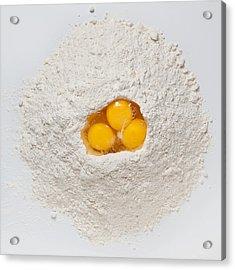 Flour And Eggs Acrylic Print