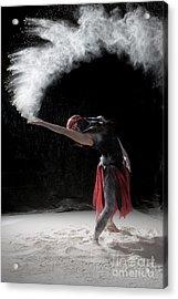 Flour Dancing Series Acrylic Print by Cindy Singleton