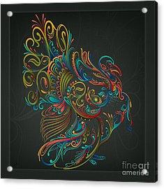 Flourish Turkey Acrylic Print
