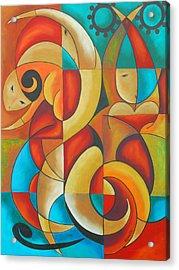 Floutine With Rhythm Acrylic Print by Marta Giraldo