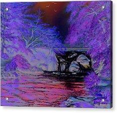 Flow Gently Acrylic Print by Vanda Luddy