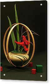 Acrylic Print featuring the photograph Flow Ikebana by Carolyn Dalessandro
