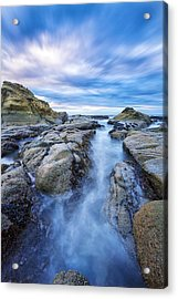 Flow West Acrylic Print by Robert Bynum