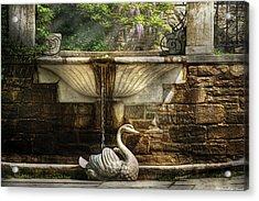 Flower - Wisteria - Fountain Acrylic Print by Mike Savad
