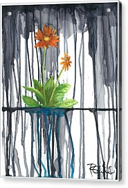 Flower #1 Acrylic Print by Rebecca Childs