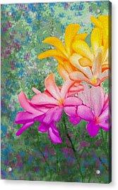 God Made Art In Flowers Acrylic Print by Manjot Singh Sachdeva