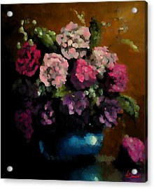 Flower Arrangement Acrylic Print by Ahmed Darwish