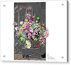 Acrylic Print featuring the mixed media Flower Arrangement by Larry Talley
