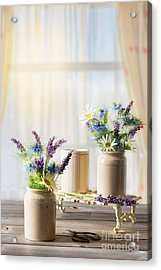 Flower Arrangements Acrylic Print by Amanda Elwell