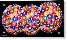 Flower Balls Acrylic Print by LeeAnn McLaneGoetz McLaneGoetzStudioLLCcom
