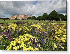 Flower Bed Hampton Court Palace Acrylic Print