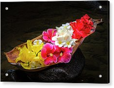 Flower Boat Acrylic Print