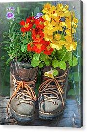 Flower Boots Acrylic Print