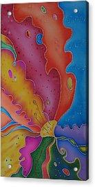 Flower-butterfly   Acrylic Print by Tatiana  Antsiferova