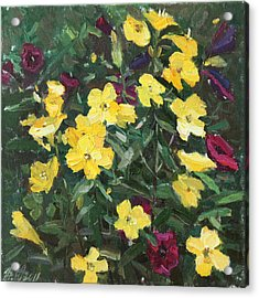 Flower Carpet Acrylic Print