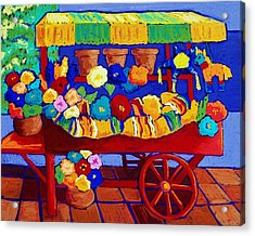 Flower Cart Acrylic Print by Candy Mayer