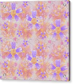 Flower Clown Pattern Acrylic Print