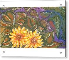 Flower Doodle Acrylic Print by Candice DeKay