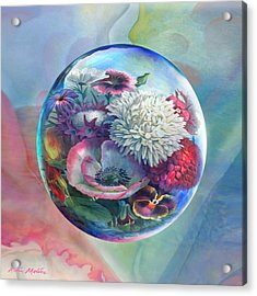 Acrylic Print featuring the painting Flower Drop Blues by Robin Moline