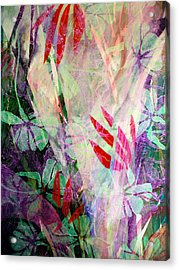 Flower Eruption Acrylic Print by Sue Reed
