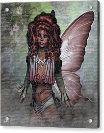 Flower Fairy 009 Acrylic Print by G Berry