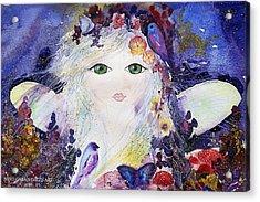 Flower Fairy Acrylic Print by Nino Gabashvili
