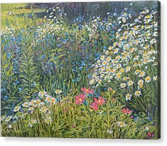 Acrylic Print featuring the painting Bountiful Blooms by Steve Spencer