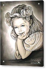 Flower Girl Acrylic Print by Anastasis  Anastasi
