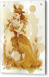 Flower Girl Acrylic Print by Brian Kesinger