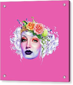 Flower Girl T-shirt Acrylic Print
